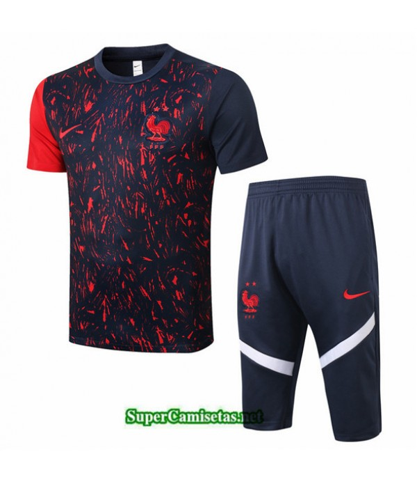 Tailandia Camiseta Kit De Entrenamiento Francia 3/4 Negro 2020/21