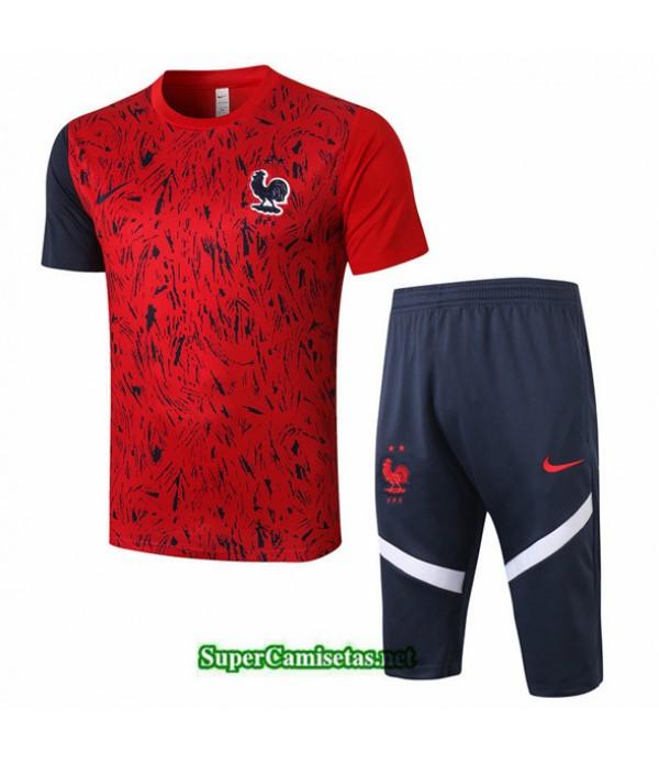 Tailandia Camiseta Kit De Entrenamiento Francia 3/4 Rojo 2020/21