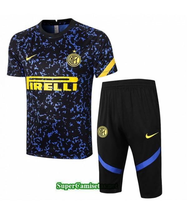 Tailandia Camiseta Kit De Entrenamiento Inter Milan 3/4 Azul 2020/21