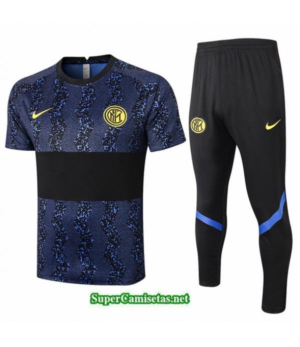 Tailandia Camiseta Kit De Entrenamiento Inter Milan Azul/negro 2020/21