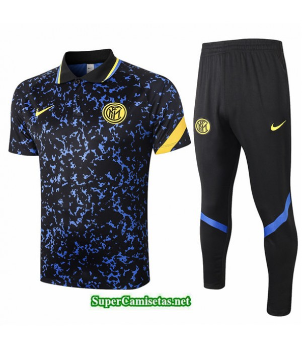 Tailandia Camiseta Kit De Entrenamiento Inter Milan Polo Azul 2020/21