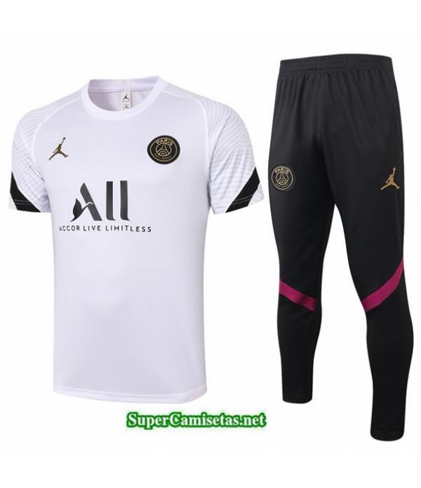 Tailandia Camiseta Kit De Entrenamiento Jordan Blanco 2020/21