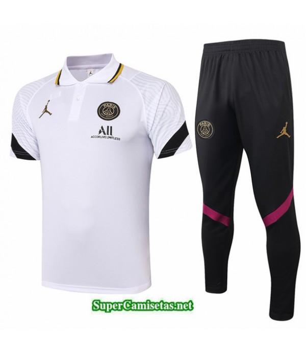 Tailandia Camiseta Kit De Entrenamiento Jordan Polo Blanco 2020/21