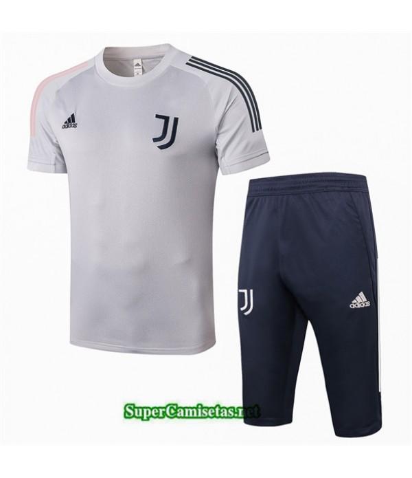 Tailandia Camiseta Kit De Entrenamiento Juventus 3/4 Gris 2020/21
