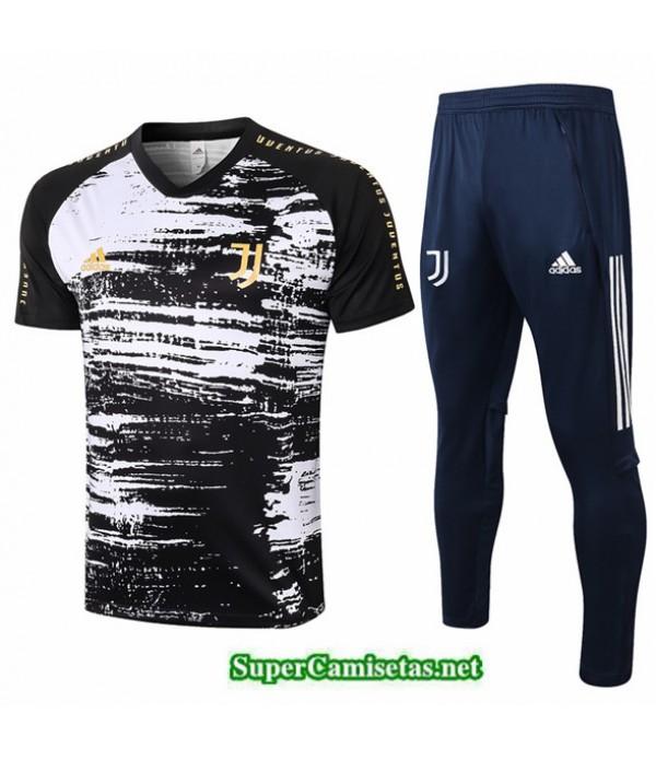 Tailandia Camiseta Kit De Entrenamiento Juventus Negro 2020/21