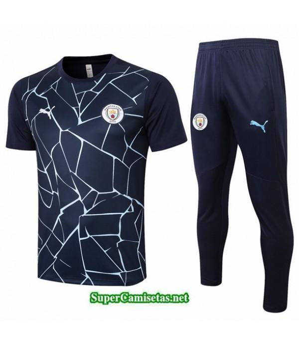 Tailandia Camiseta Kit De Entrenamiento Manchester City Azul Oscuro 2020/21