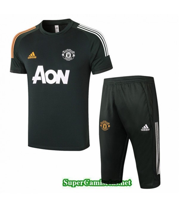 Tailandia Camiseta Kit De Entrenamiento Manchester United Ejército Verde 2020/21