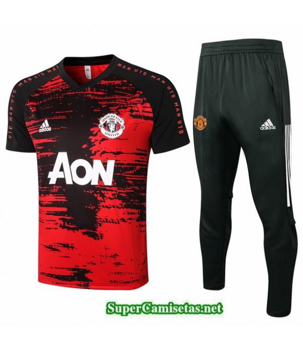 Tailandia Camiseta Kit De Entrenamiento Manchester United Rojo 2020/21