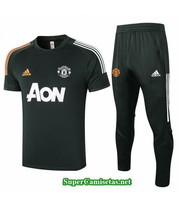 Tailandia Camiseta Kit De Entrenamiento Manchester United Verde Oscuro 2020/21