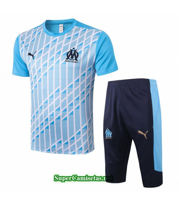 Tailandia Camiseta Kit De Entrenamiento Marsella 3/4 Azul Claro 2020/21