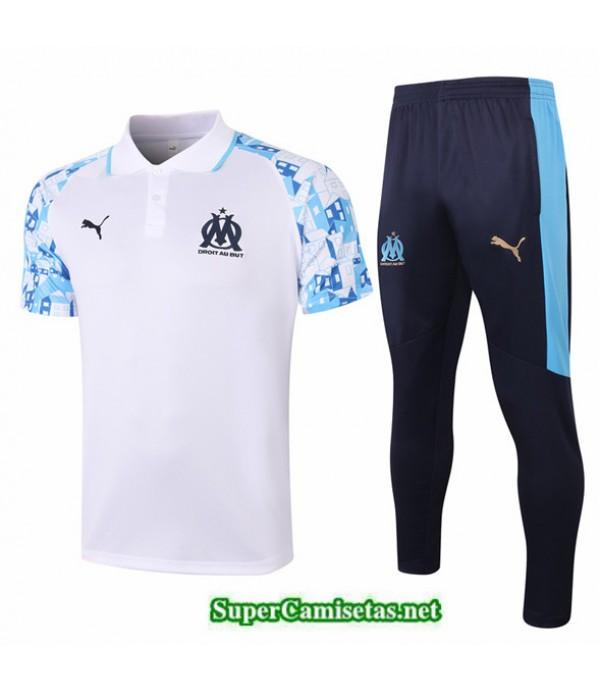 Tailandia Camiseta Kit De Entrenamiento Marsella Polo Blanco 2020/21