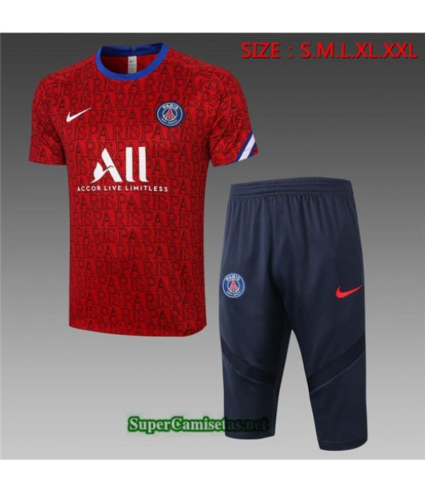 Tailandia Camiseta Kit De Entrenamiento Psg 3/4 Rojo 2020/21