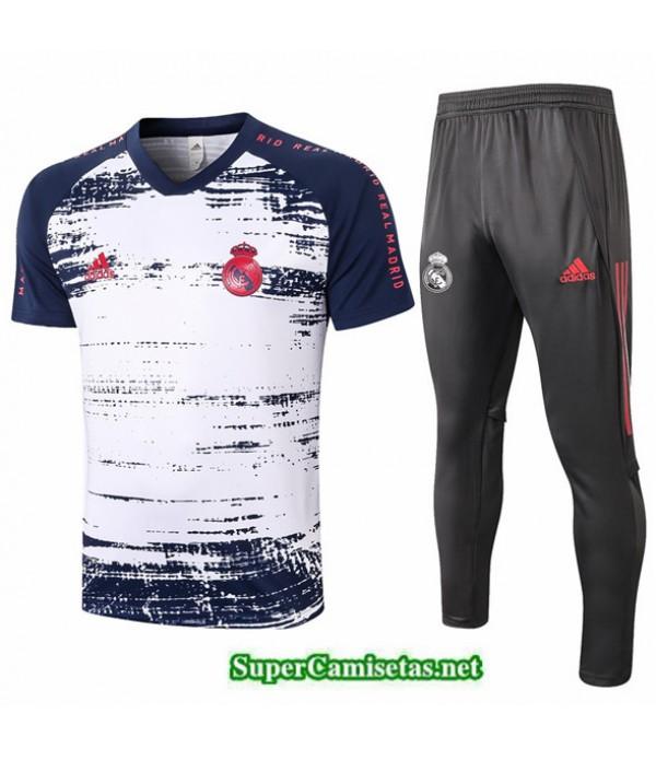 Tailandia Camiseta Kit De Entrenamiento Real Madrid Blanco/azul Marino 2020/21