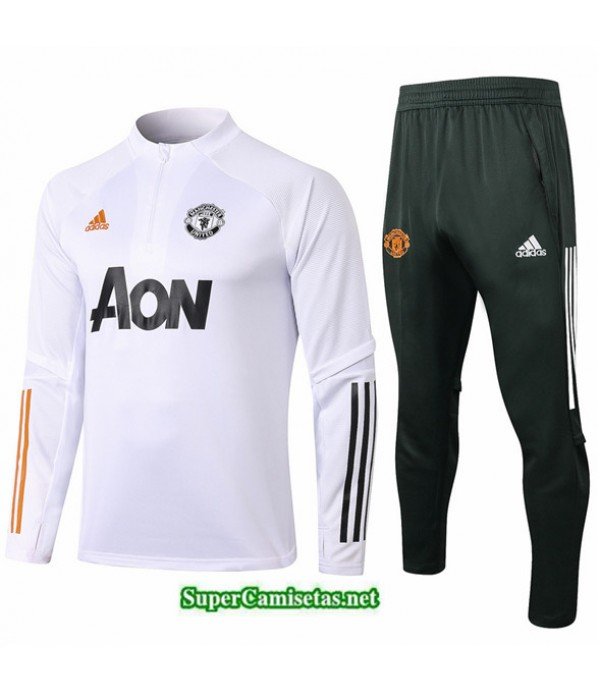 Tailandia Chandal Manchester United Blanco 2020/21