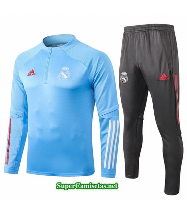 Tailandia Chandal Niños Real Madrid Azul Claro 2020/21