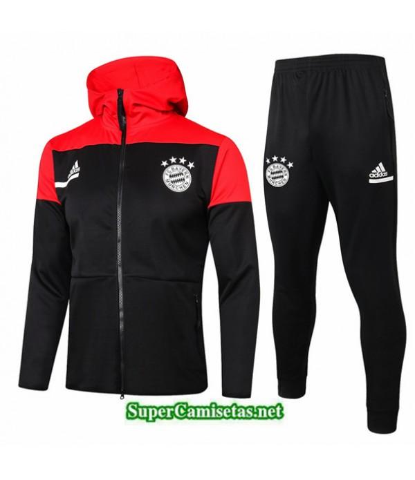 Tailandia Chaqueta Chandal Bayern Munich Sombrero Negro/rojo 2020/21