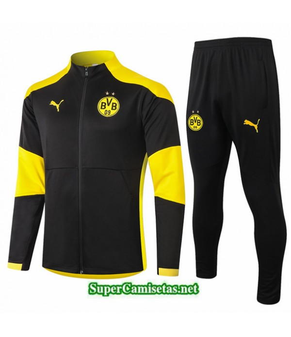Tailandia Chaqueta Chandal Borussia Dortmund Negro 2020/21