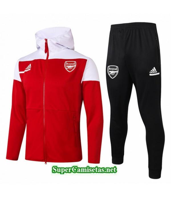 Tailandia Chaqueta Chandal Niños Arsenal Sombrero Rojo 2020/21