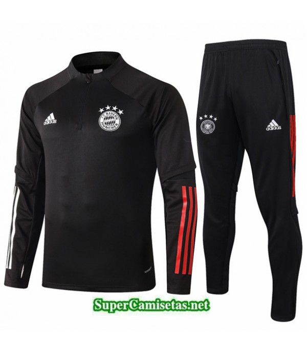 Tailandia Chaqueta Chandal Niños Bayern Munich Negro 2020/21