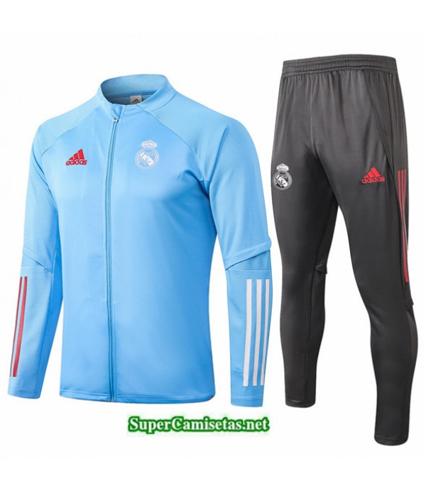 Tailandia Chaqueta Chandal Niños Real Madrid Azul Claro 2020/21