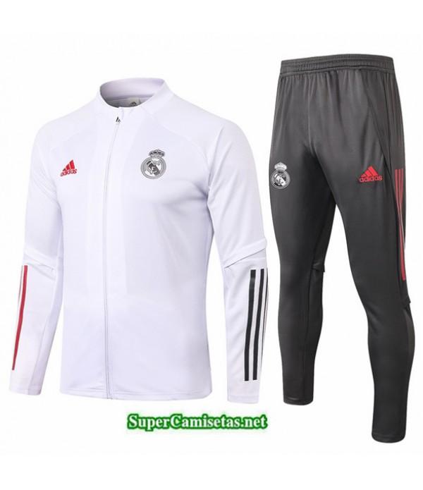 Tailandia Chaqueta Chandal Niños Real Madrid Blanco 2020/21