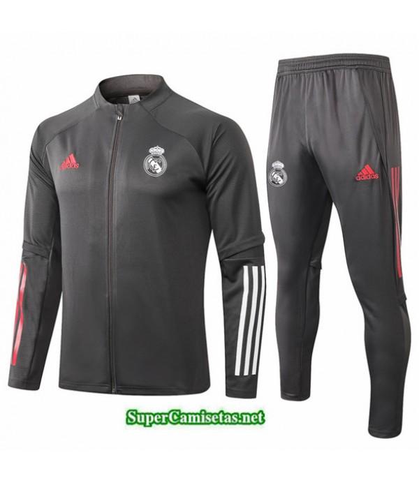 Tailandia Chaqueta Chandal Niños Real Madrid Gris Oscuro 2020/21