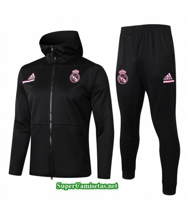 Tailandia Chaqueta Chandal Niños Real Madrid Sombrero Negro 2020/21