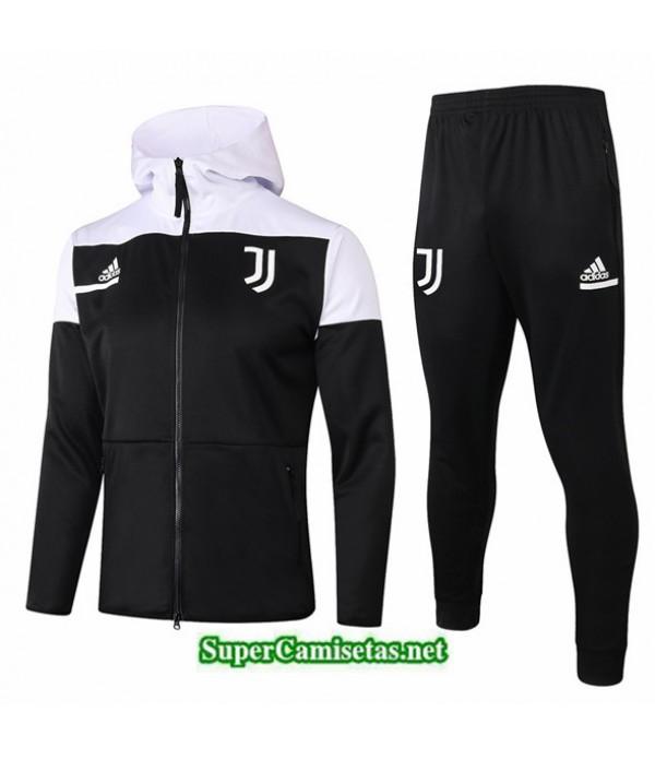 Tailandia Chaqueta Chandal Sombrero Niños Juventus Negro/blanco 2020/21