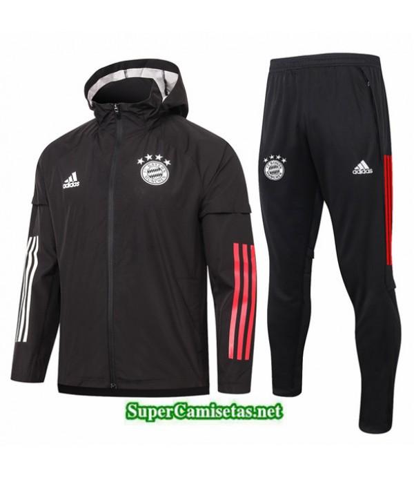 Tailandia Chaqueta Rompevientos Bayern Munich Negro 2020/21