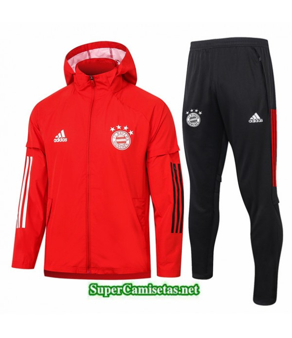 Tailandia Chaqueta Rompevientos Bayern Munich Rojo 2020/21