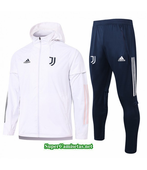Tailandia Chaqueta Rompevientos Juventus Blanco 2020/21