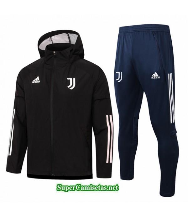Tailandia Chaqueta Rompevientos Juventus Negro 2020/21