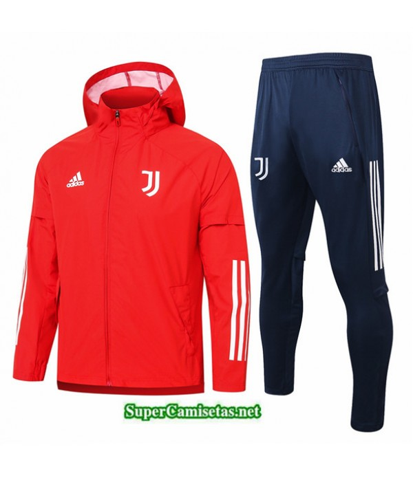 Tailandia Chaqueta Rompevientos Juventus Rojo 2020/21
