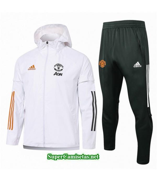 Tailandia Chaqueta Rompevientos Manchester United Blanco 2020/21