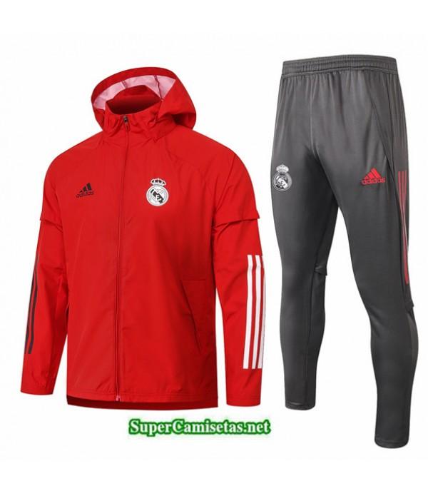 Tailandia Chaqueta Rompevientos Real Madrid Rojo 2020/21