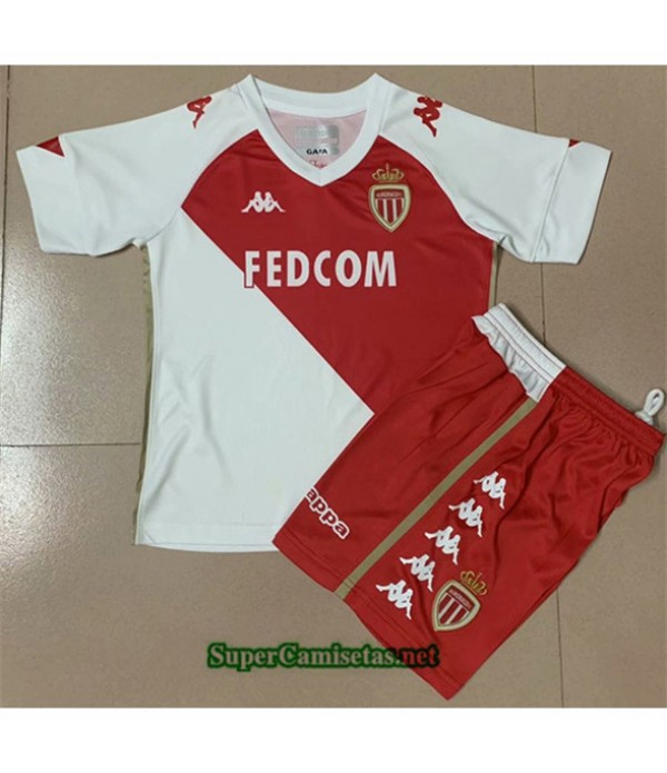 Tailandia Primera Equipacion Camiseta As Monaco Niños 2020/21