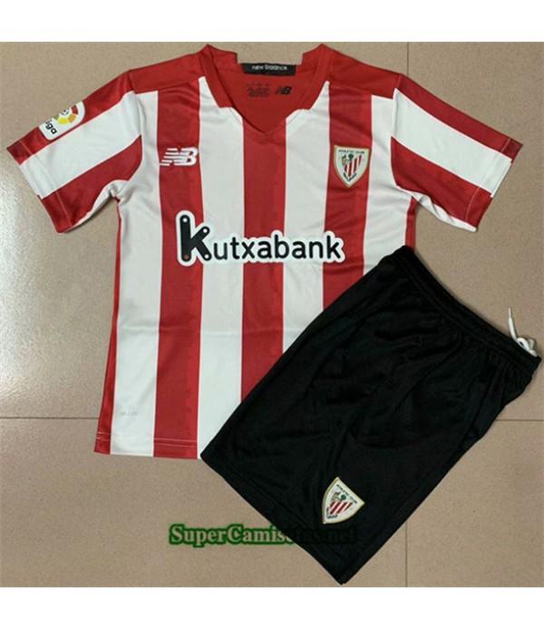 Tailandia Primera Equipacion Camiseta Athletic Bilbao Niños 2020/21
