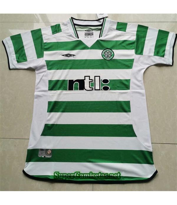 Tailandia Primera Equipacion Camiseta Clasicas Celtic Hombre 2001 03