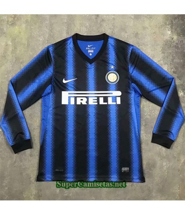 Tailandia Primera Equipacion Camiseta Clasicas Inter Milan Manga Larga Hombre 2010 11