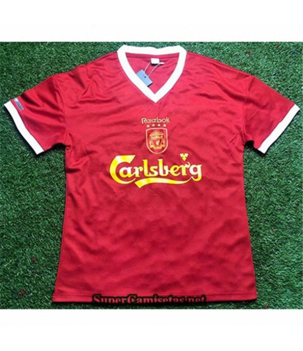 Tailandia Primera Equipacion Camiseta Clasicas Liverpool Hombre 2000 01