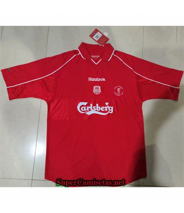 Tailandia Primera Equipacion Camiseta Clasicas Liverpool Hombre 2000 02