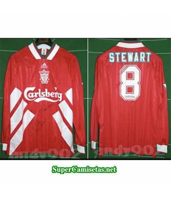 Tailandia Primera Equipacion Camiseta Clasicas Liverpool Manga Larga Hombre 1993 95