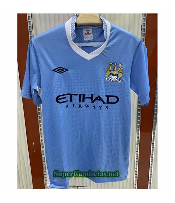 Tailandia Primera Equipacion Camiseta Clasicas Manchester City Hombre 2011 12