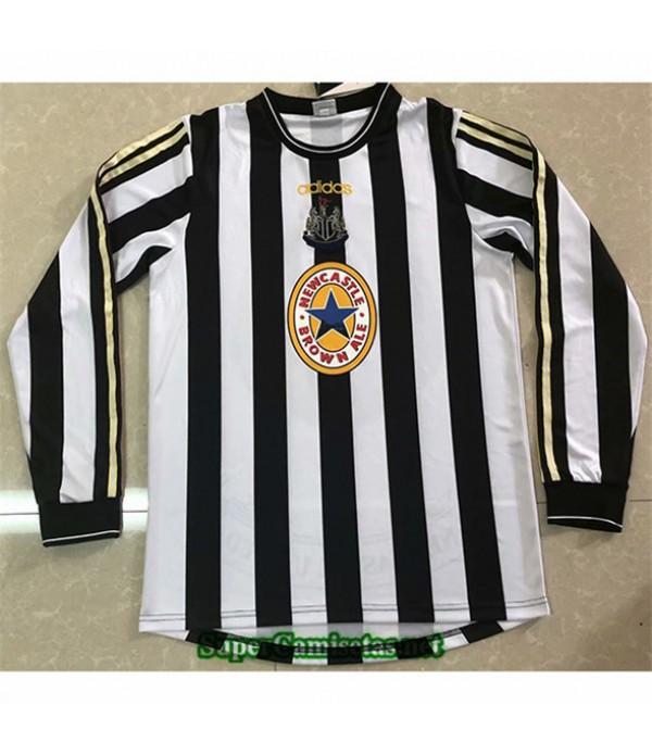 Tailandia Primera Equipacion Camiseta Clasicas Newcastle United Manga Larga Hombre 1997 99