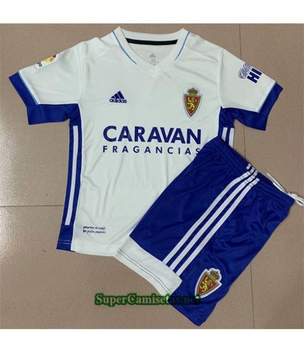 Tailandia Primera Equipacion Camiseta Real Zaragoza Niños 2020/21