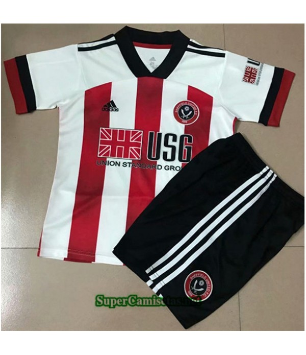 Tailandia Primera Equipacion Camiseta Sheffield United Niños 2020/21