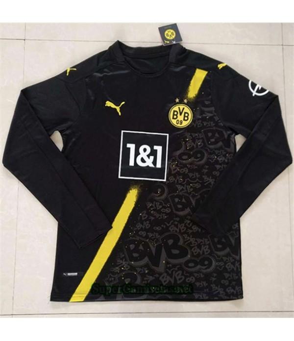 Tailandia Segunda Equipacion Camiseta Borussia Dortmund Manga Larga 2020/21