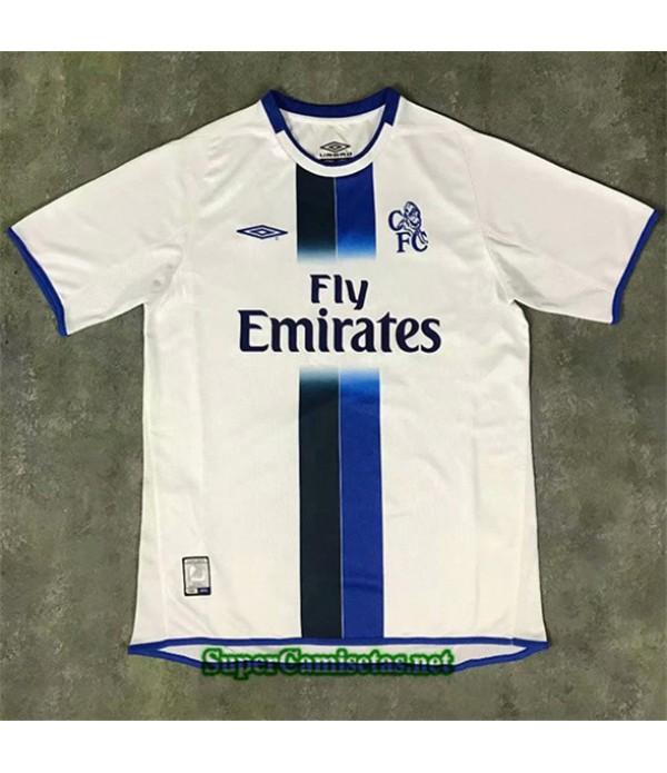 Tailandia Segunda Equipacion Camiseta Clasicas Chelsea Hombre 2003 05