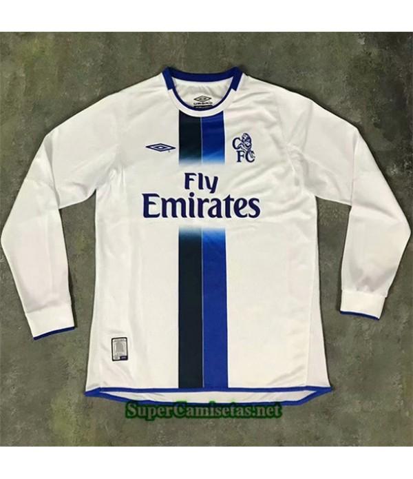 Tailandia Segunda Equipacion Camiseta Clasicas Chelsea Manga Larga Hombre 2003 05