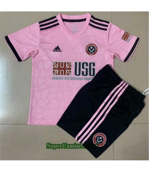 Tailandia Segunda Equipacion Camiseta Sheffield United Niños 2020/21